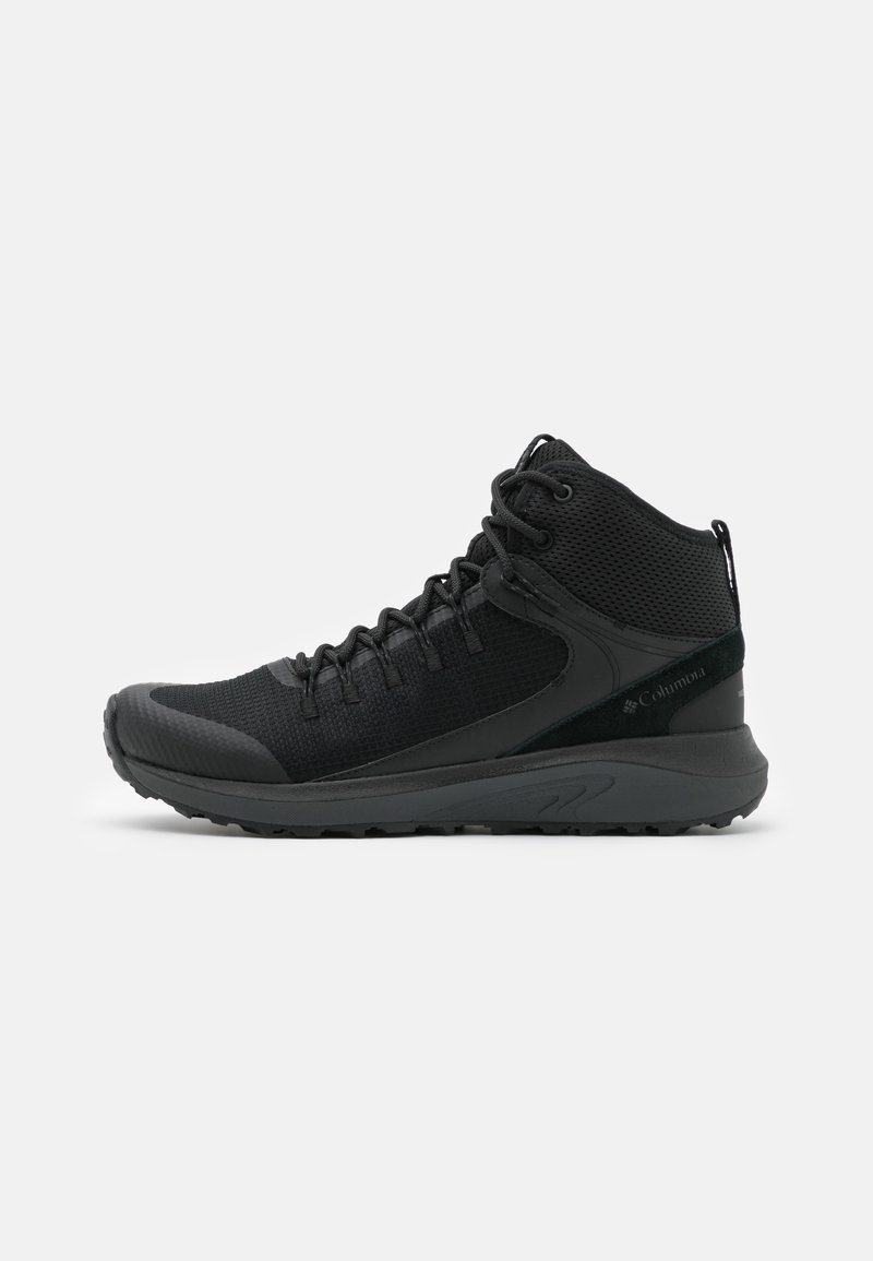 Columbia - TRAILSTORM MID WATERPROOF - Hiking shoes - black/dark grey