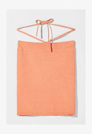 Pencil skirt - orange