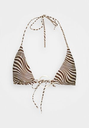 CLAUDIA - Bikini top - mahogany/multi