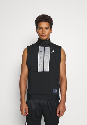 AIR VEST - Sports shirt - black/white
