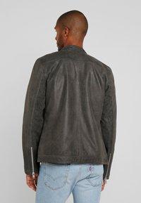 Lindbergh - BIKER JACKET - Leather jacket - grey - 2