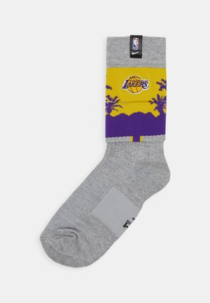 NBA LA LAKERS SNEAKER SOXS CREW - Calzettoni - grey heather/amarillo/white