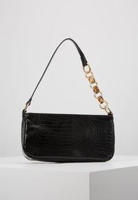Topshop - SPIN SNAKE SHOULDER - Handbag - black - 2