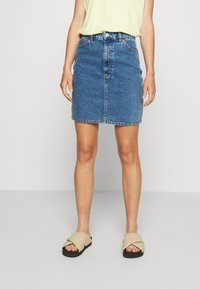 Monki - MIMMIE SKIRT - Kokerrok - blue medium dusty - 0