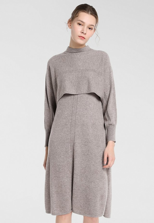 Jersey dress - taupe