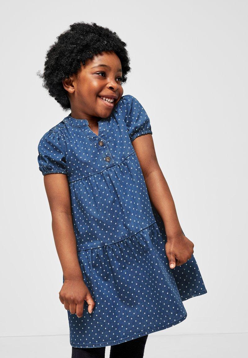 s.Oliver - Denim dress - blue dots