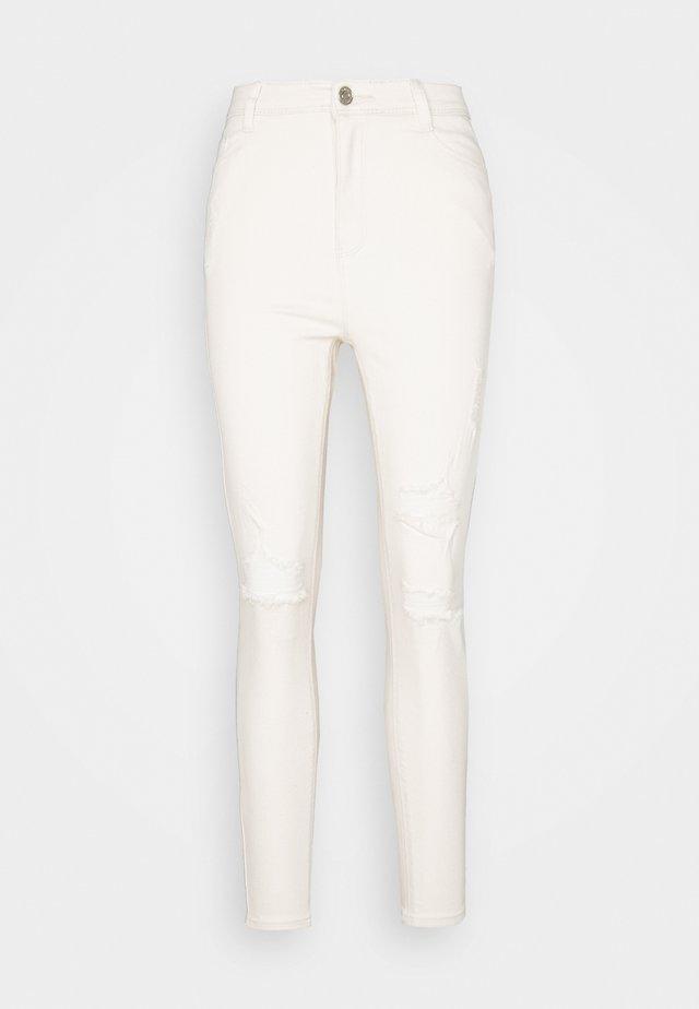 SINNER HIGHWAISTED AUTHENTIC RIPPED SKINNY - Jeans Skinny - ecru