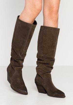 NEVAAR - Cowboy/Biker boots - dark taupe