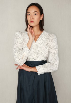 ANNE  - Blouse - white dotted