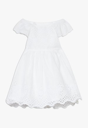EYELET DRESS - Denní šaty - optic white