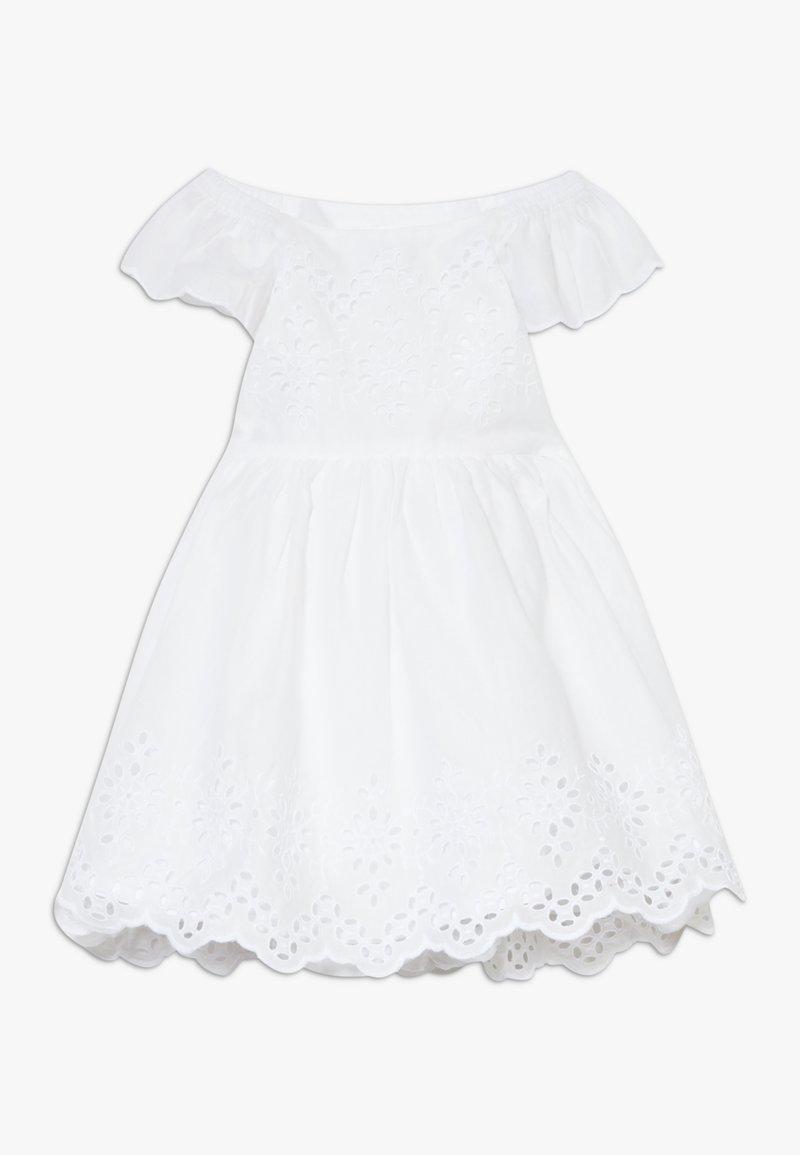 GAP - EYELET DRESS - Denní šaty - optic white