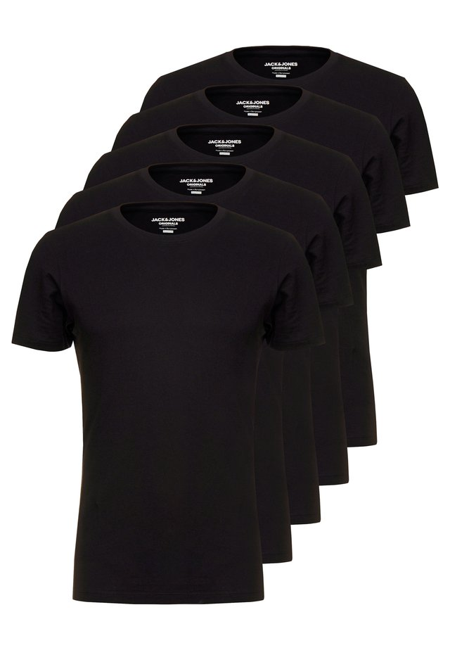 JORBASIC CREW NECK 5 PACK  - T-paita - black