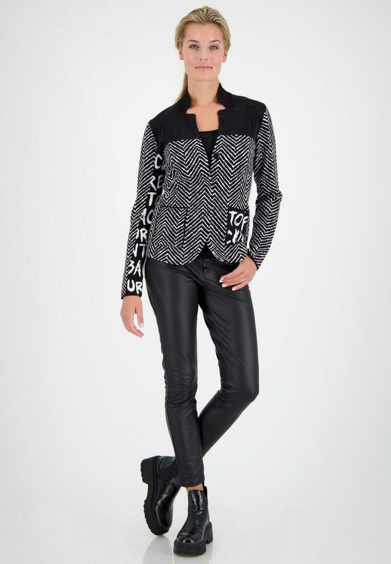 Monari - Blazer - black/beige
