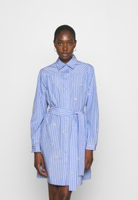 Liu Jo Jeans - ABITO CAMICIA STRIPES - Shirt dress - blue wave - 0