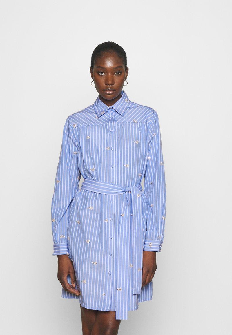 Liu Jo Jeans - ABITO CAMICIA STRIPES - Shirt dress - blue wave