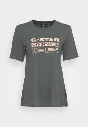 ORIGINALS LABEL REGULAR FIT TEE - Print T-shirt - graphite