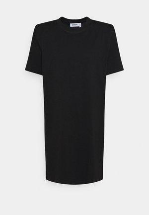 KAHLO SHOULDER PAD DRESS - Jerseykjole - black