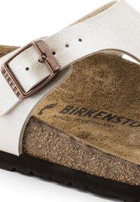 Birkenstock - GIZEH GRACEFUL - Sandalias de dedo - white - 6