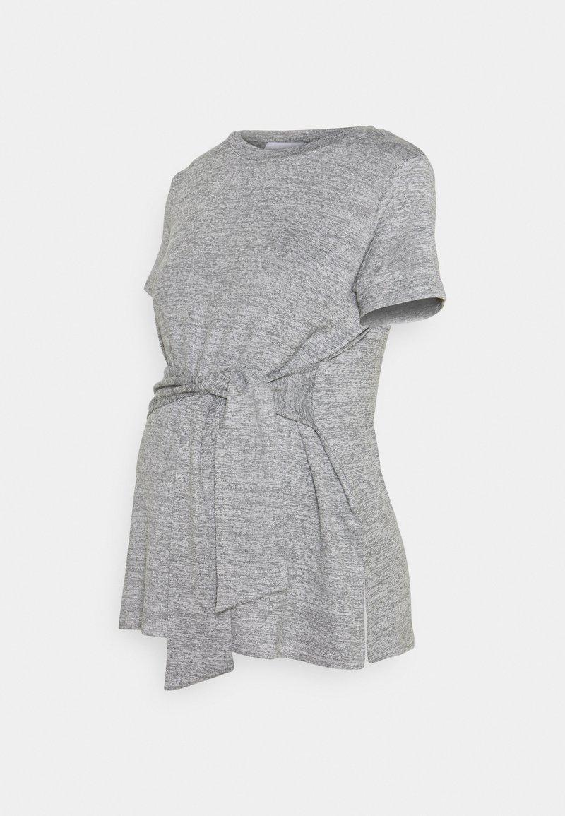 MAMALICIOUS - MLILA - T-shirt z nadrukiem - medium grey melange