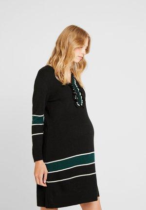 MAGLIA RIGHE - Jumper dress - black