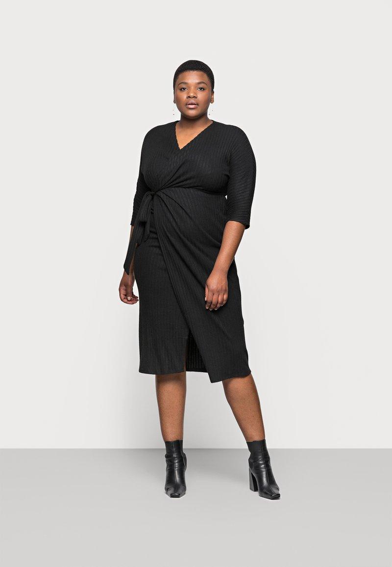 River Island Plus - Jumper dress - black