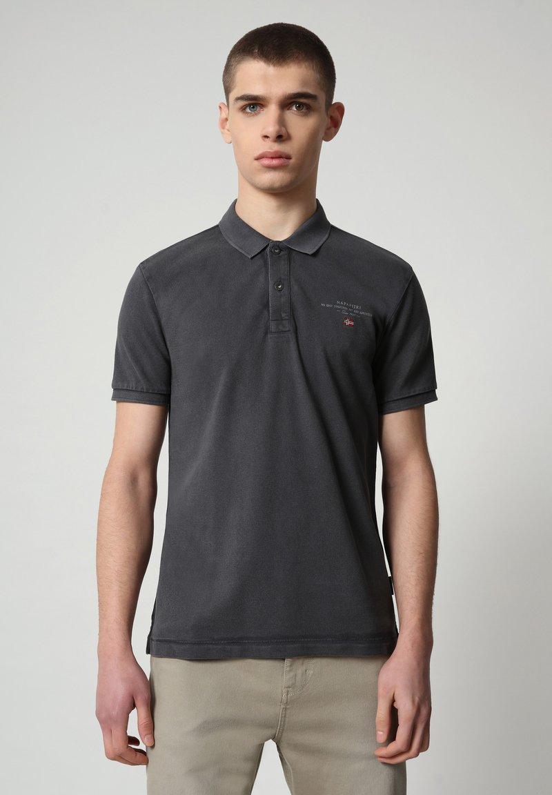 Napapijri - ELBAS - Polo shirt - dark grey solid