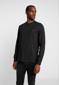 Farah - WORTH TEE - Bluzka z długim rękawem - deep black - 0