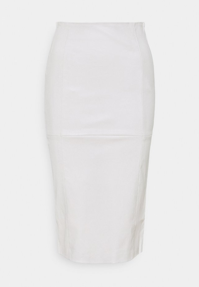 SEEDAR - Leather skirt - antique white
