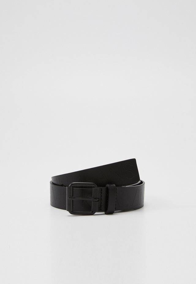 LOGO EMBOSSED BELT - Bælter - black