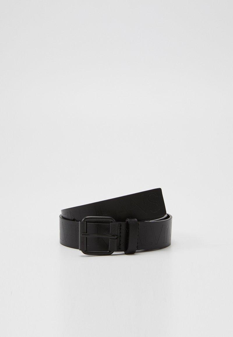 Calvin Klein Jeans - LOGO EMBOSSED BELT - Ceinture - black