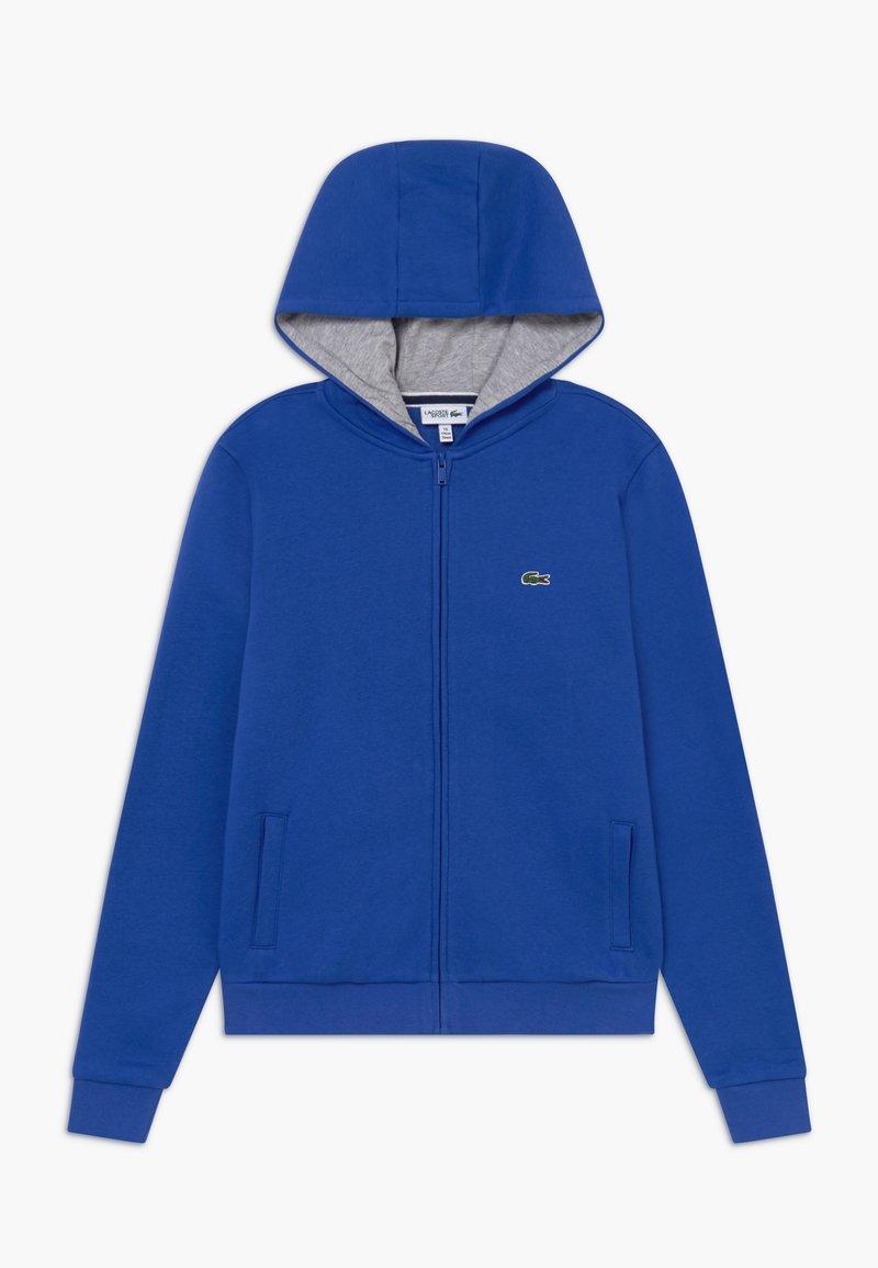 Lacoste Sport - TENNIS - Zip-up hoodie - blue/light grey