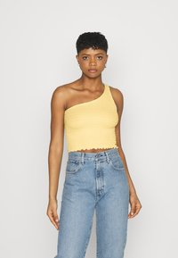 Hollister Co. - ONE SHOULDER  - Topper - yellow - 0