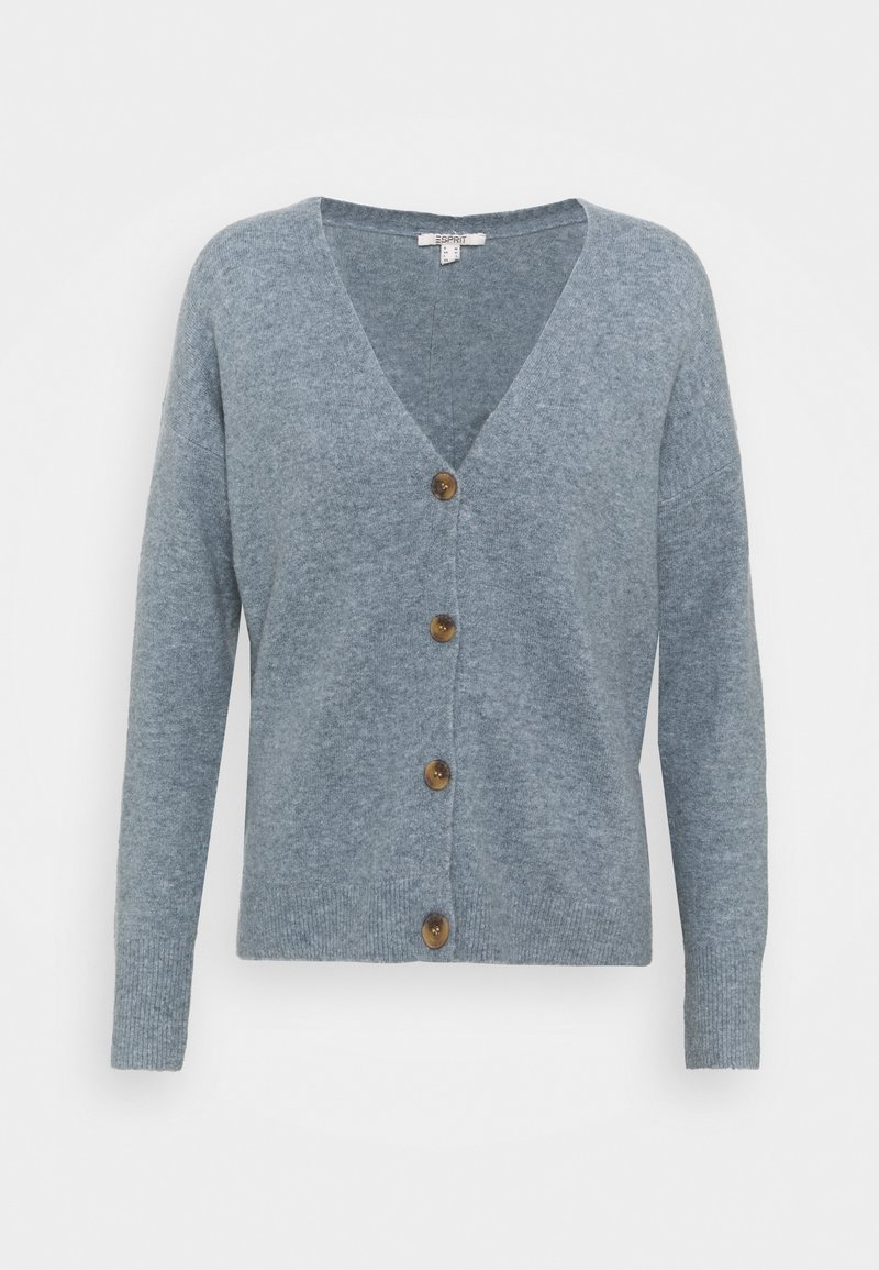 Esprit - BUTTON CARDI - Kardigan - light blue lavender