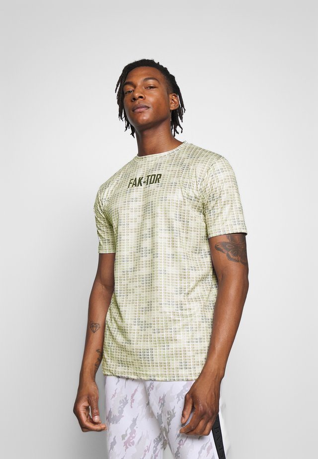 ALGO TEE - Print T-shirt - beige