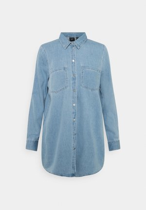 VMMILA LONG MIX COLOR - Button-down blouse - light blue denim