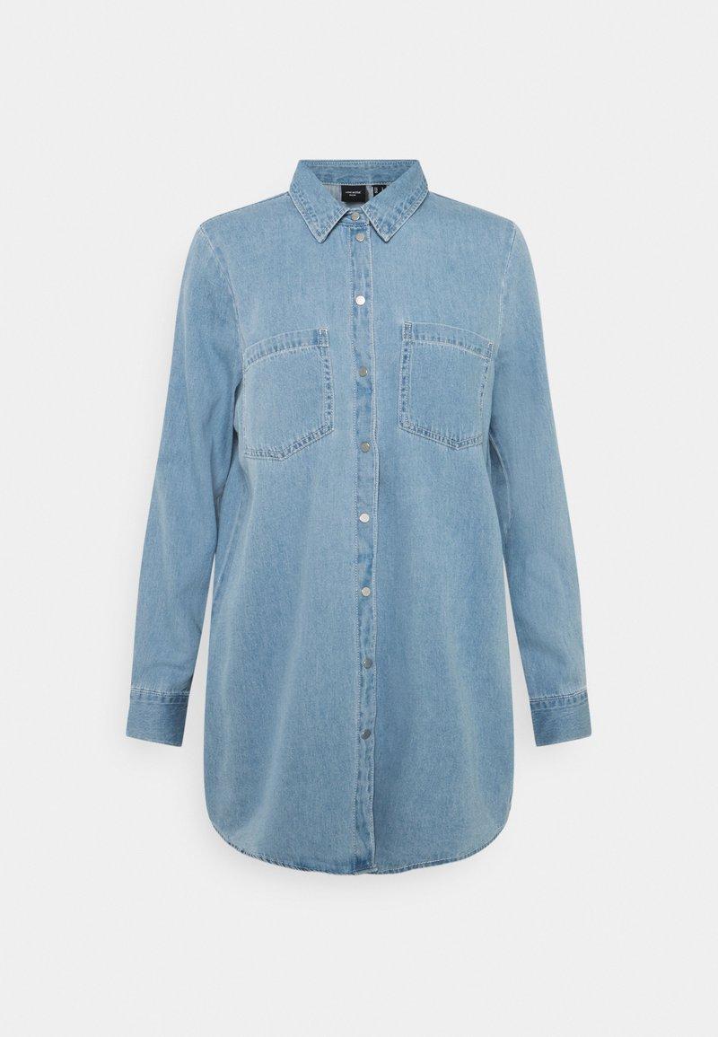 Vero Moda - VMMILA LONG MIX COLOR - Skjorta - light blue denim