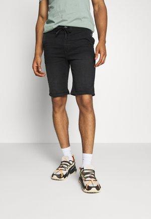 Denim shorts - denim black