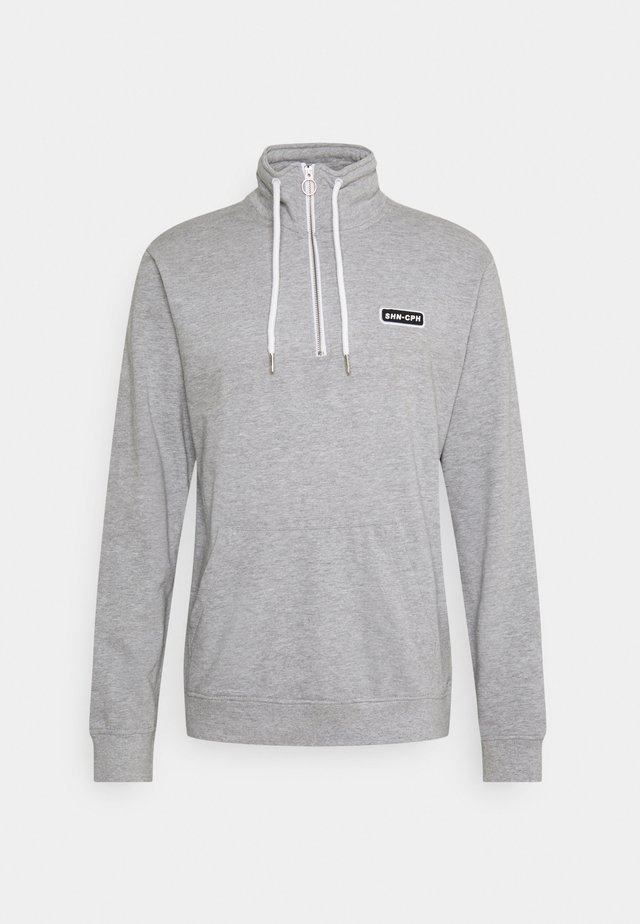 HALF ZIP  - Sweatshirts - grey melange