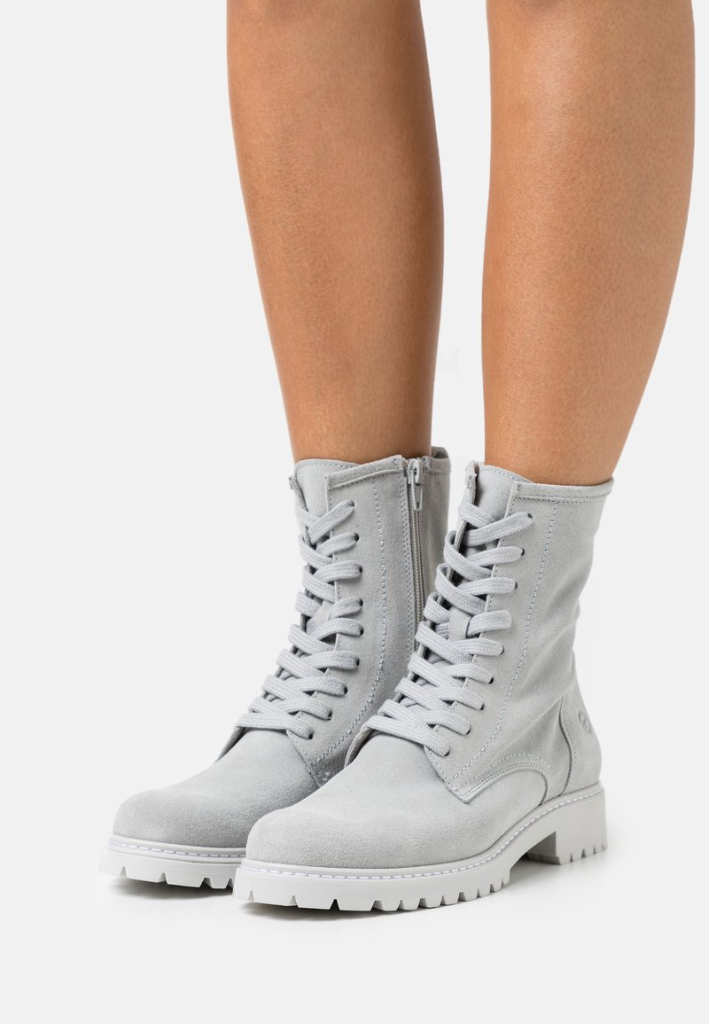 Tamaris - Lace-up ankle boots - light grey
