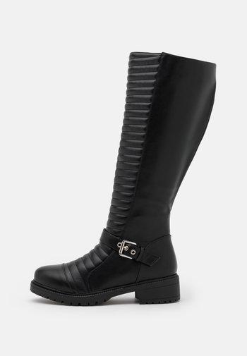 WIDE FIT TROPEZ - Cowboy/Biker boots - black