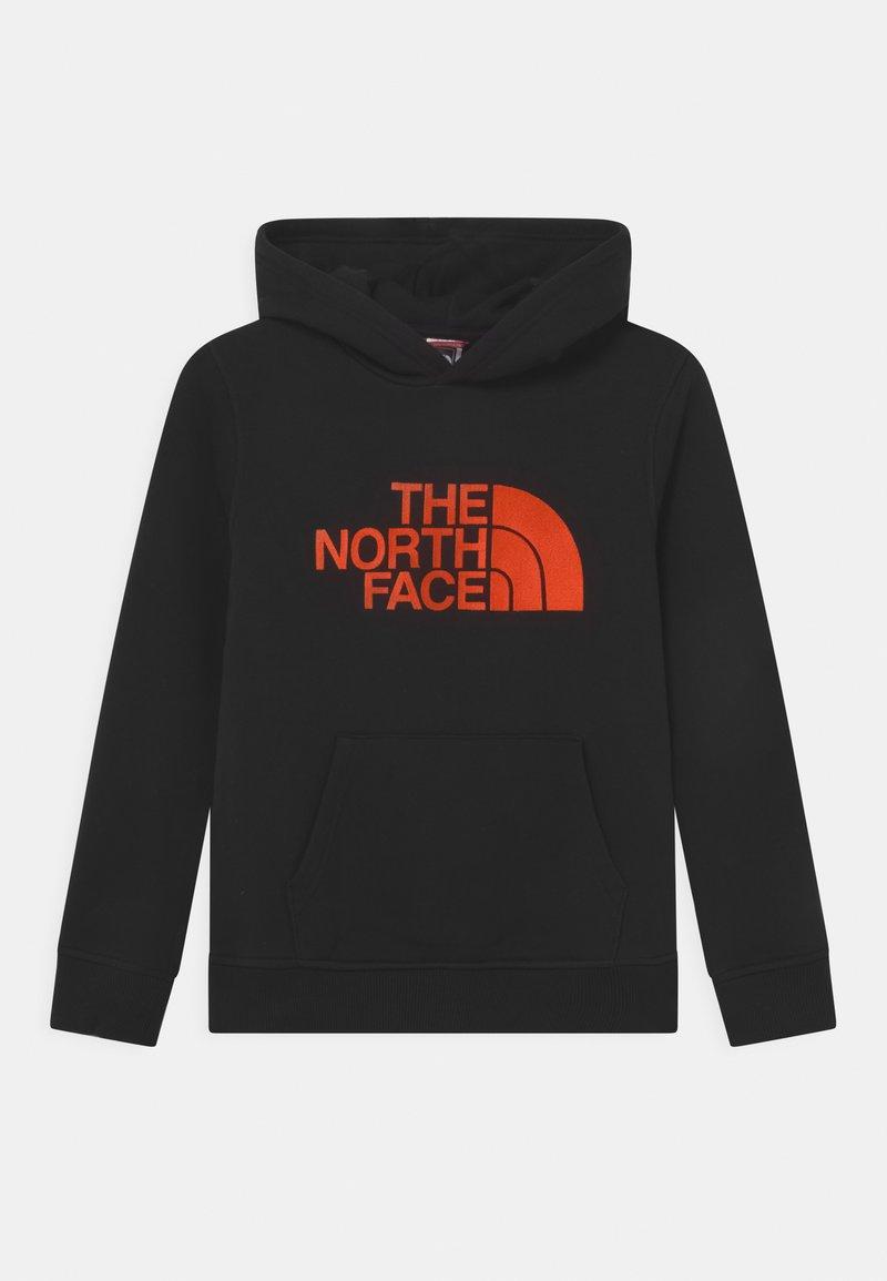 The North Face - DREW PEAK HOODIE UNISEX - Mikina skapucí - black/red orange