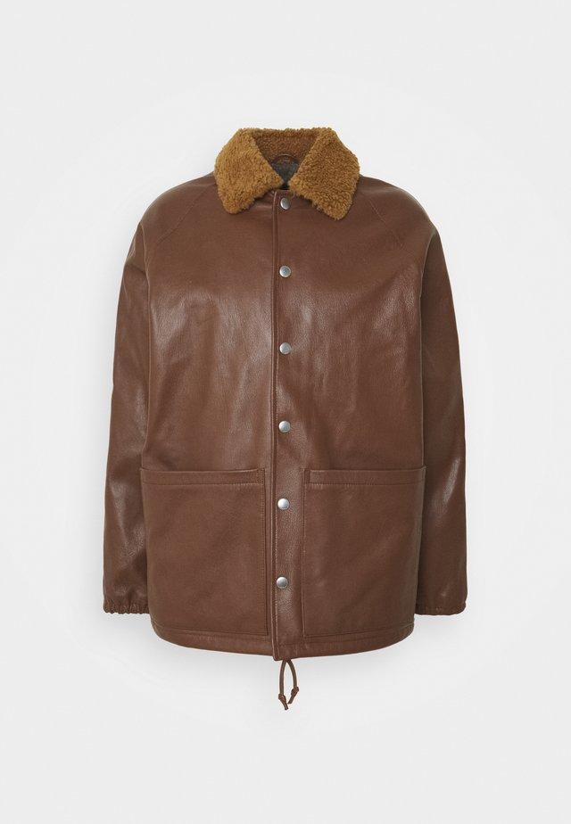 JOCKS JACKET - Veste en cuir - brown