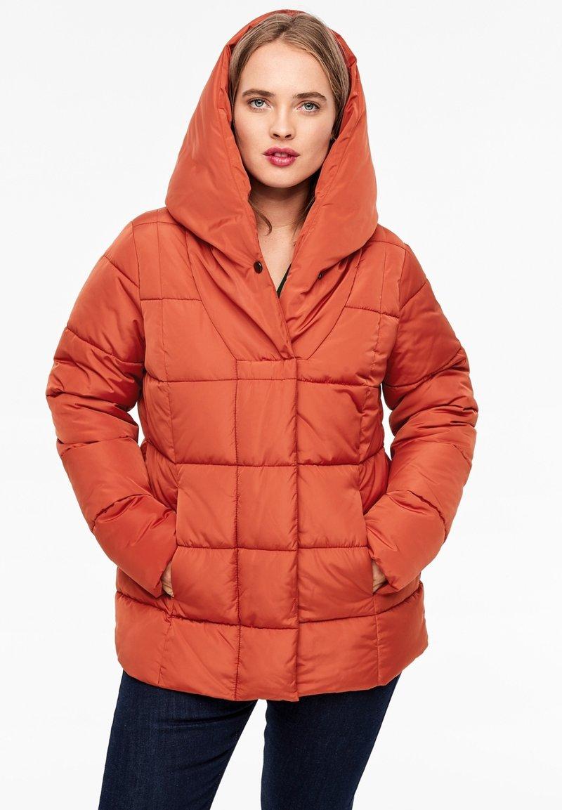 Triangle - MIT SCHALKRAGEN - Winter jacket - orange