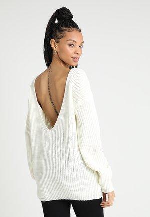 Jersey de punto - winter white