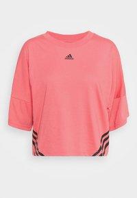 CROPPED TEE  - T-shirt print - hazy rose/black