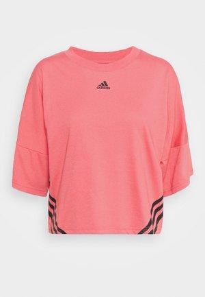 CROPPED TEE  - T-shirt imprimé - hazy rose/black