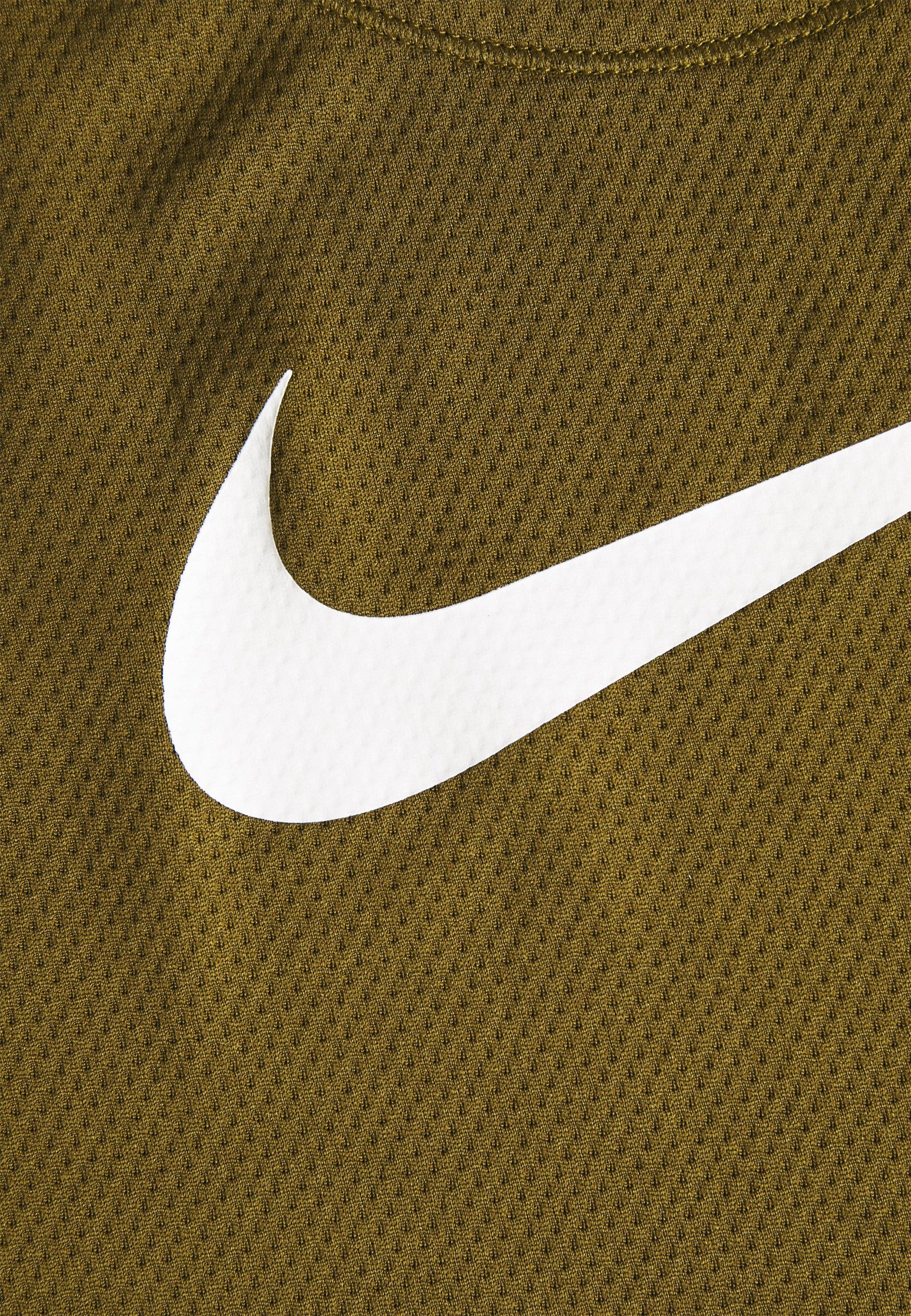 Nike Performance RUN TANK - Sports shirt - olive flak/white k2eB4