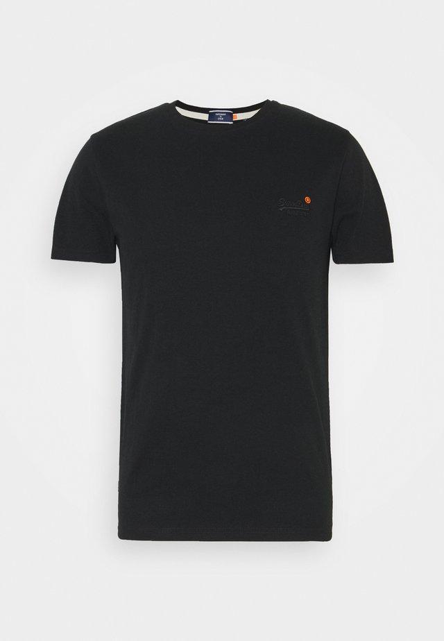 VINTAGE TEE - Jednoduché triko - black