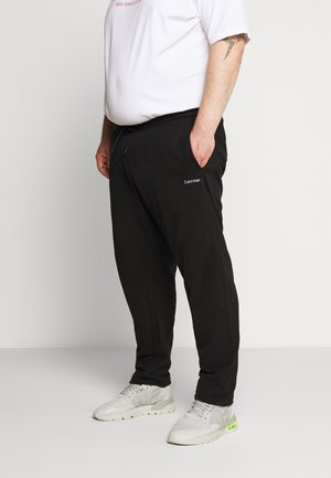 LOGO EMBROIDERY - Tracksuit bottoms - black