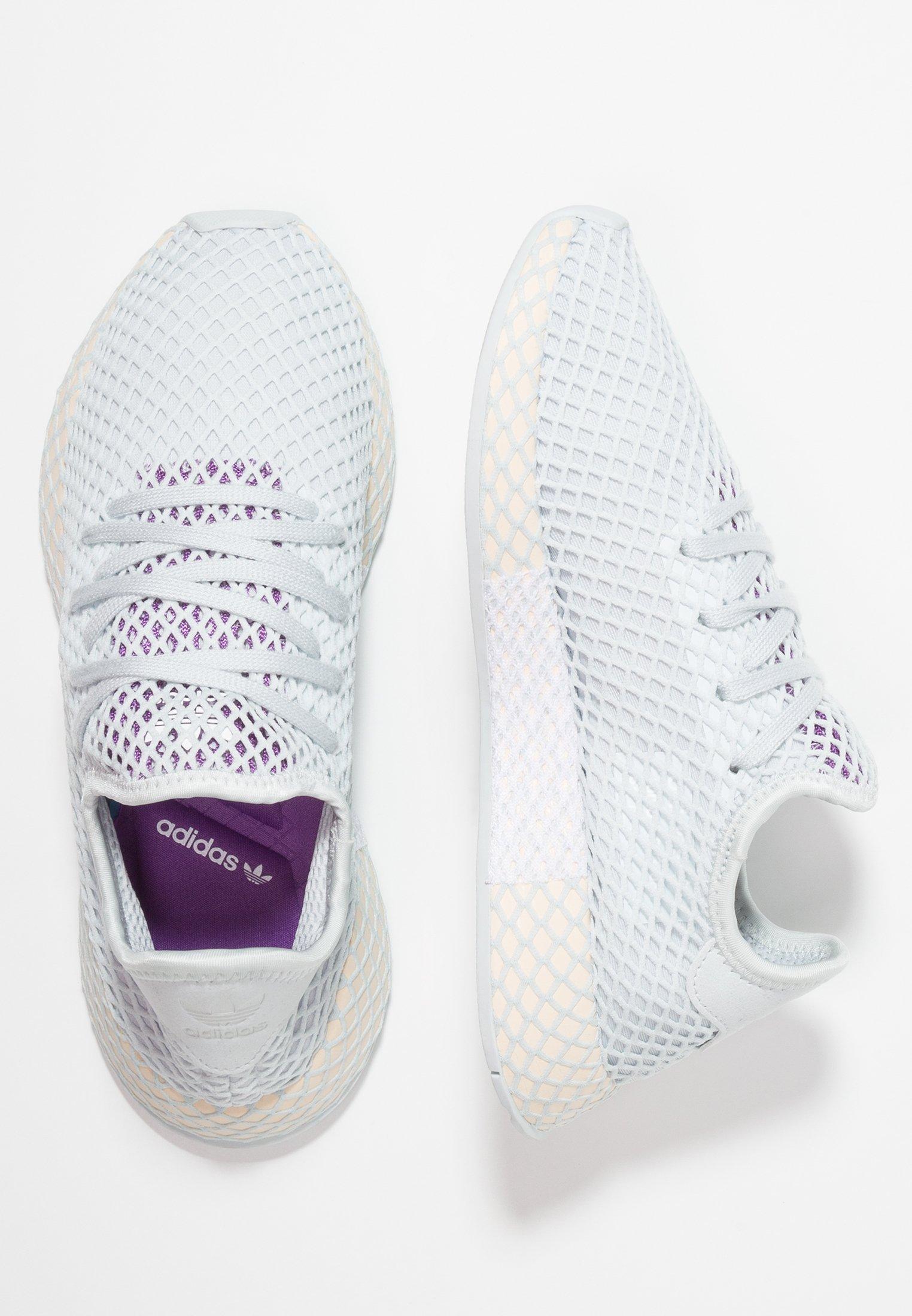 Adidas Originals Deerupt Runner - Sneakers Blue Tint/ecru Tint/active Purple